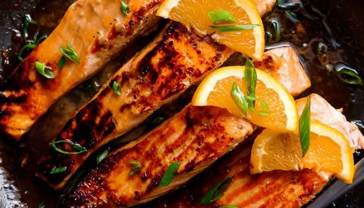 Crispy-Honey-Orange-Glazed-Salmon-