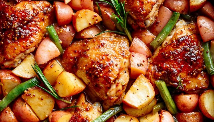Honey-Mustard-Chicken-And-Potatoes